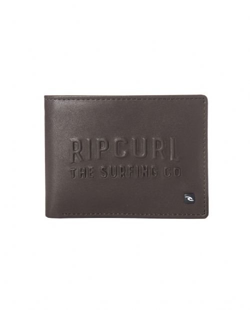 RIP CURL MENS WALLET.UP NORTH FAUX LEATHER BROWN MONEY NOTE COIN PURSE 8S F1 9